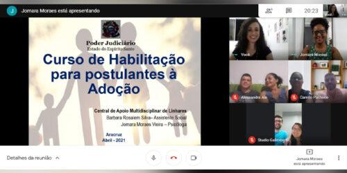 Pretendentes de Aracruz participam de curso online de preparação para adoção