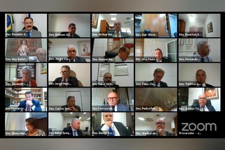 tela de aplicativo de vídeo conferência