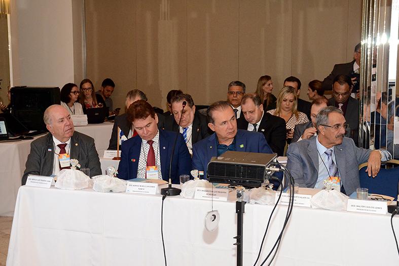O presidnete do TJES, desembargador érgio Luiz Teixeira Gama participa do 116º Encontro de presidente dos tribunais de justiça.