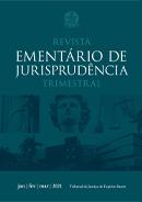 arte digital do primeiro volume da revista ementário de jurisprudência do ano de 2021
