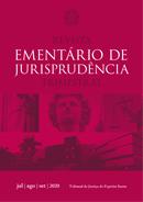 arte digital da capa da revista ementário de jurisprudência do terceiro trimestre