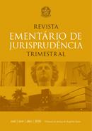 arte digital da capa da revista ementário de jurisprudência trimestral
