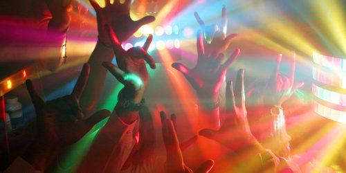 Casa de shows com luzes