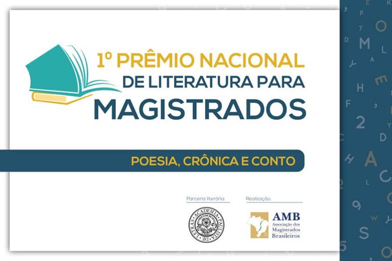 Identidade visual o primeiro prêmio nacional de literatura para magistrados organizado pela associação dos magistrados do brasil.