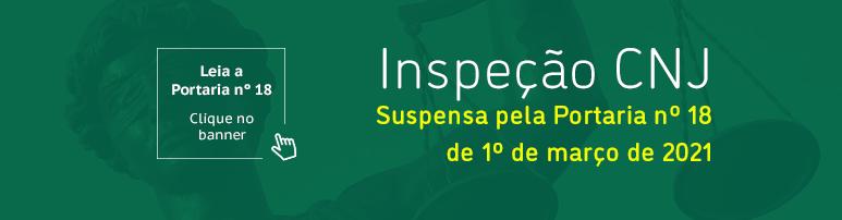 Slide | Inspeção CNJ suspensa